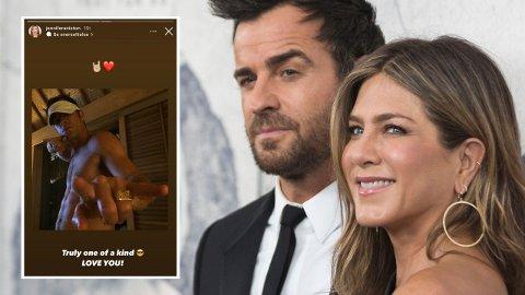 BURSDAG: Da Justin Theroux nylig fylte 50 år, valgte ekskona å dele en hilsen på Instagram.