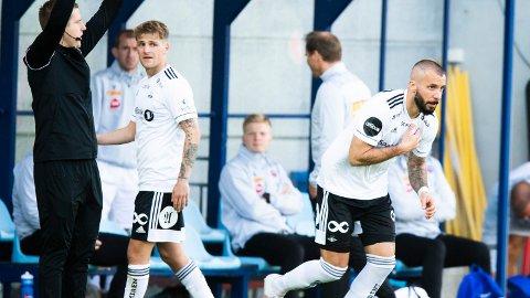 Rosenborgs Guillermo Molins (t.h) er på vei vekk fra klubben.