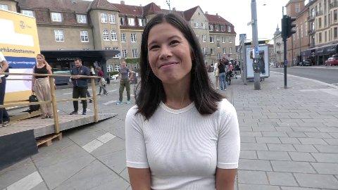 MDG Oslos førstekandidat Lan Marie Berg avga forhåndsstemme på St. Hanshaugen torsdag. Hun er klar på hva som blir det viktigste når det gjelder valgresultatet.
