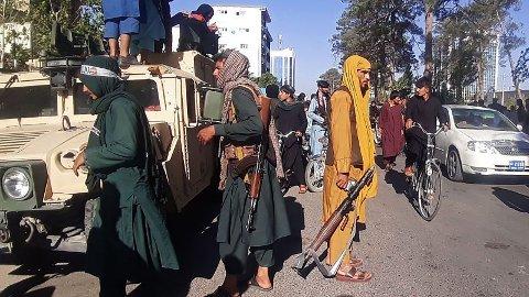 TATT OVER: Taliban har nå også tatt kontroll over Ghor. Her fra Herat, den tredje største byen i Afghanistan.