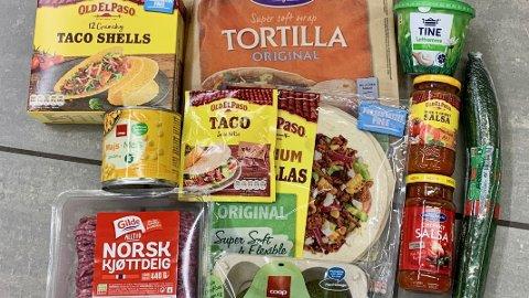 STORE PRISFORSKJELLER: Du kan gå på en pris-smell om du handler tacokurven hos supermarkedene.