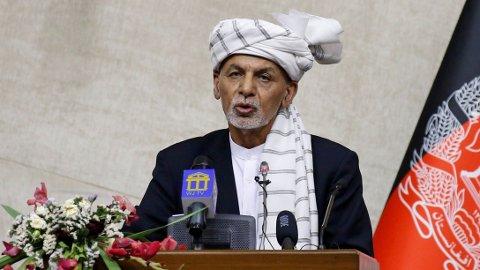 Afghanistans president Ashraf Ghani tidligere i sommer.