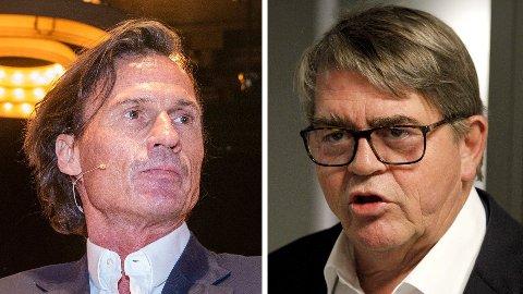 IKKE IMPONERT: Jan Petter Sissener (til høyre) er ikke imponert over Petter Stordalens utspill.