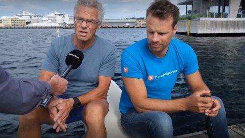 IKKE TIL Å KJENNE IGJEN: Både Rasmus Hansson fra MDG og Jon Helgheim fra Frp sier Oslofjorden ikke er til å kjenne igjen, men er nødvendigvis ikke enige om hvilke tiltak som er nødvendige.