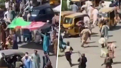 Flere skal ha omkommet etter å ha forsøkt å heise det afghanske flagget på et torg i Jalalabad.