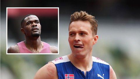GA KLAR BESKJED: Karsten Warholm ga klar beskjed om hva han syntes om skoene til Rai Benjamin etter OL-finalen. Nå har han endret mening.