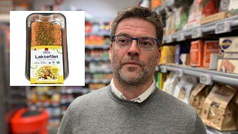 TREKKES TILBAKE: Harald Kristiansen i Coop Norge sier at Coop laksefilet trekkes tilbake fra butikkene.
