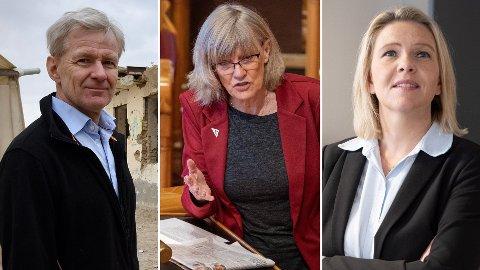 UENIGE: Mens Frp-leder Sylvi Listhaug (t.h) bare vil hjelpe afghanske flyktninger i nærområdet, vil stortingsrepresentant Karin Andersen (SV) og generalsekretær Jan Egeland i Flyktninghjelpen hente flere til Norge.