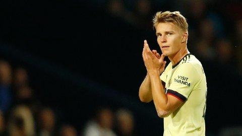 TILBAKE I ARSENAL: Martin Ødegaard leverte en fin redebut for Arsenal onsdag kveld, og noterte seg for en assist.
