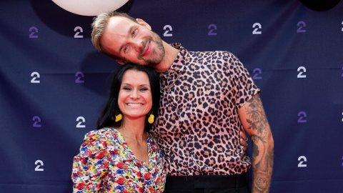 SPENT: Morten Hegseth gleder seg til dommerdebuten. Her med programleder Katrine Moholt.
