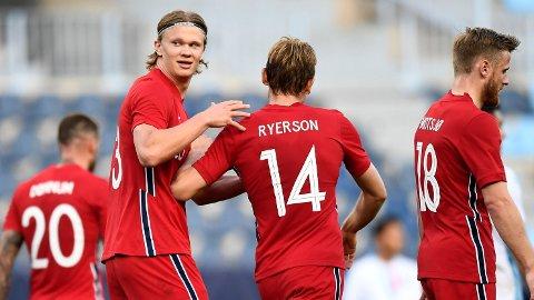 Vi tror Erling Braut Haaland kan score mot Nederland i onsdagens kamp.