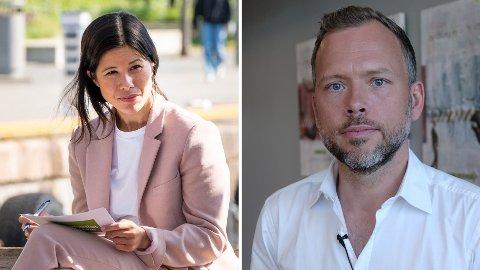 KREVER SVAR: MDGs førstekandidat i Oslo, Lan Marie Berg, ber SV-leder Audun Lysbakken velge mellom Senterpartiet og MDG før valget.
