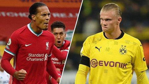 SUPERDUELL: Mye har handlet om duellen mellom Virgil van Dijk og Erling Braut Haaland før Norges VM-kvalifisering mot Nederland.
