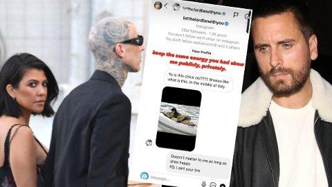 TREKANTDRAMA: Alle eksene til Kourtney Kardashian er involvert etter at flere lettkledde og intime bilder av henne og hennes nye kjæreste har gått sin seiersgang i sosiale medier.