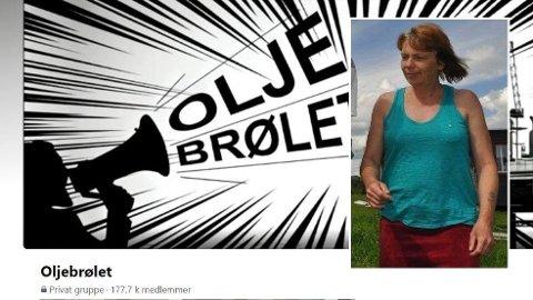 MELDT UT: Helene Sørbu var den som opprettet gruppen Oljebrølet. Nå er hun ikke lenger medlem