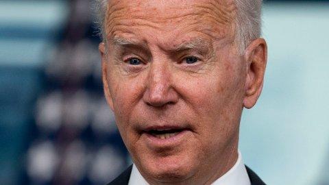 LANGT IGJEN: Fredagens ferske tall er ingen gode nyheter for president Joe Biden. Han sliter fortsatt med en arbeidsledighet som er godt over nivåene før pandemien startet i mars 2020.