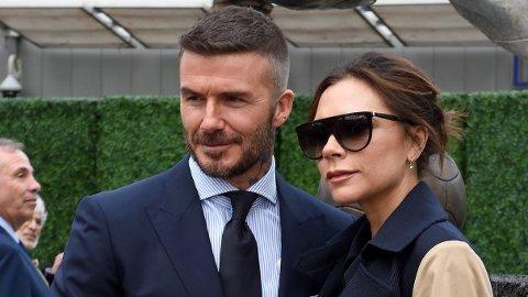 GAVMILD: Fansen kaller Victoria Beckham gavmild etter at hun delte et bilde av ektemannen i helgen.