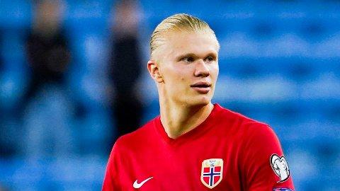 NYE SCORINGER: Erling Braut Haaland markerte seg med hat trick for Norge.