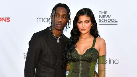 VENTER BARN: Travis Scott og Kylie Jenner blir foreldre igjen.