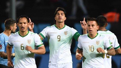 Bolivias Marcelo Moreno (midten) er toppscorer i den søramerikanske kvaliken.