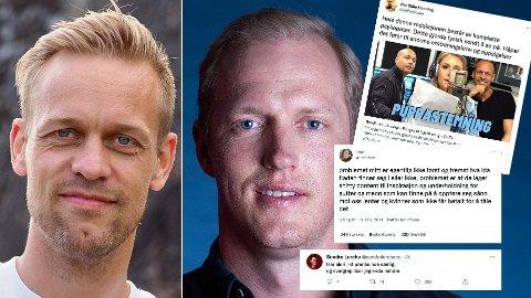 DRATT UT AV KONTEKST: Kritikken på Twitter mener spøken til Mads Hansen og Follestad gikk for langt. Hansen mener kritikken er tatt ut av kontekst.