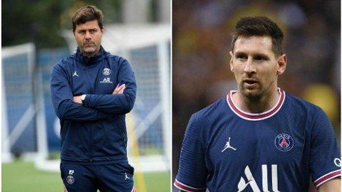 NY STJERNE: Mauricio Pochettino skal nå lede Lionel Messi som PSG-trener etter at 33-åringen overraskende forlot Barcelona i sommer.