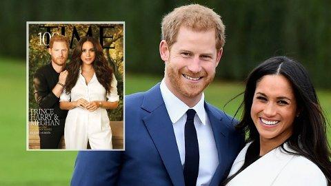 FORSIDEN: Det nye bildet av Prins Harry og hertuginne Meghan får kritikk for både det ene og det andre.