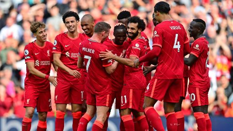 Liverpool kunne juble for tre poeng mot Crystal Palace.