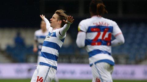 Stefan Johansen feirer scoringen sin hjemme mot Sheffield Wednesday forrige sesong