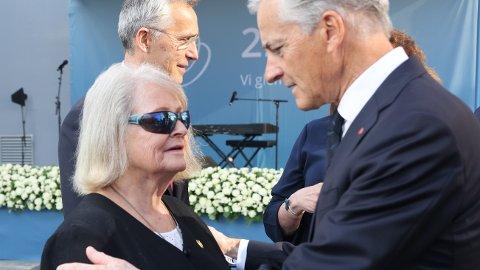 TVIL: Gro Harlem Brundtland innrømmer at hun tvilte på Ap-leder Jonas Gahr Støre, her under minnemarkeringen i Regjeringskvartalet, 10 år etter terrorangrepet 22. Juli 2011.