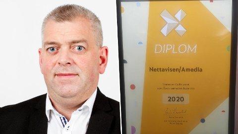 VINNER: Kurt Leirvåg og resten av gjengen i Sportspill stakk av med prisen for Årets samarbeidspartner.