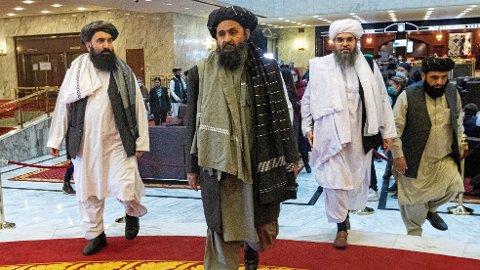 AMBISIØSE MÅL: Taliban krever å bli anerkjent som regjering av FN.
