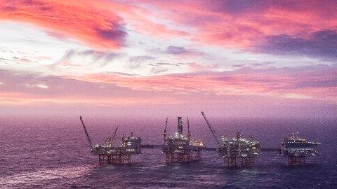 Oljeprisen nærmer seg 80 dollar fatet. Bildet viser Johan Sverdrup-feltet. Foto: Carina Johansen / NTB