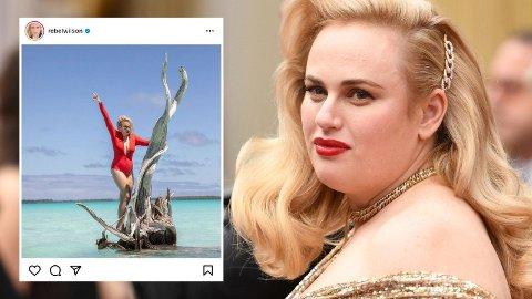 HYLLES I KOMMENTARFELTET: Fansen er tydelig begeistret for Rebel Wilsons nyeste Instagram-innlegg.