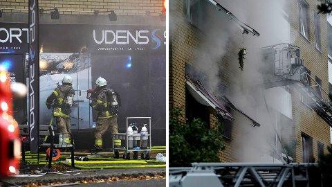 RYSTENDE BILDER: Sverige våknet til dramatiske bilder fra Göteborg tirsdag.