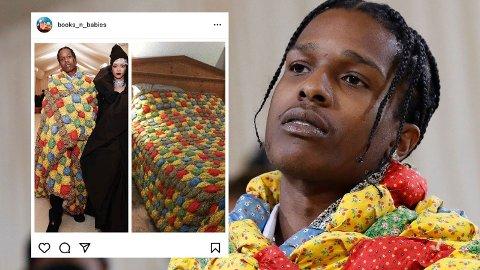 GJENBRUK: En bruker på Instagram dro kjensel på Asap Rockys lappeteppe, og har siden fått oppmerksomhet i medier verden over.