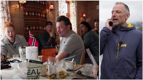 SJOKKBESKJED: I kveldens episode av «71 grader nord – Norges tøffeste kjendis» får deltakerne en beskjed av Tom Stiansen som setter dem helt ut.
