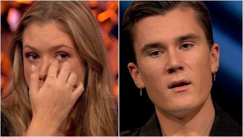 TÅREVÅTT: Elisabeth Asserson klarer ikke holde tårene tilbake når Jakob Ingebrigtsen snakker om hvor mye hun betyr for han.