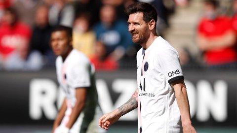 SJOKKTAP: Lionel Messi og hans stjernelagkamerater ble slått av Rennes søndag ettermiddag.