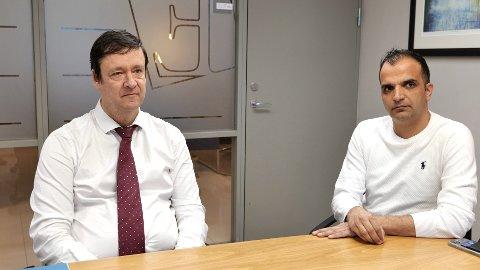 VENTER: Advokat John Christian Elden og fotballdommer Svein Erik Edvartsen ber om svar fra NFF.
