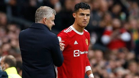 MISFORNØYD: The Telegraph hevder at Cristiano Ronaldo er en av spillerne som skal være misfornøyd med Solskjær.