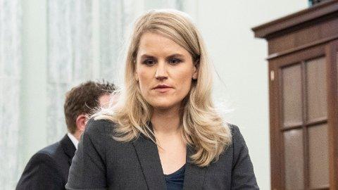 I KONGRESSEN: Frances Haugen, tidligere Facebook-ansatt, møtte i Kongressen tirsdag.
