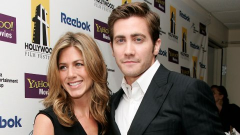 BETATT: Jake Gyllenhaal har innrømmet at han var betatt av Jennifer Aniston i flere år før de to spilte sammen i 2002.