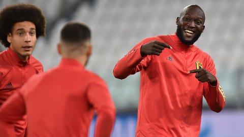 Det var god stemning på treningsfeltet til Belgia, hvor Romelu Lukaku og lagkameratene forberedte seg til kampen mot Frankrike i Nations League.