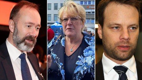 AVSKJEDSGAVE: 35 stortingspolitikere som er ferdig nå har søkt om fratredelsesytelse, blant annet Trond Giske (t.v.), Trine Skei Grande og Jon Helgheim.