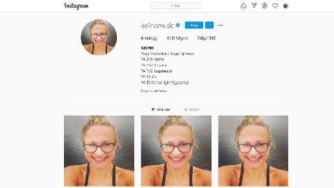 HACKET: Slik ser Instagramkontoen til KEiiNO-Music ut søndag ettermiddag.
