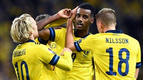 Alexander Isak er toppscorer i VM-kvaliken for Sverige med tre mål på fem kamper.