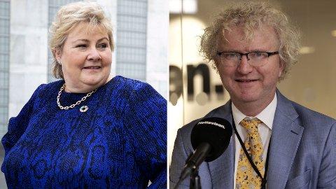 FÅR SLAKT: Erna Solberg bommer til dels grovt med anslagene, mener Jan Ludvig Andreassen.