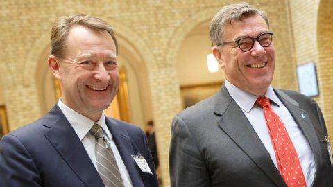 VAKSINESUKSESS: Superinvestorene Bjørn Rune Gjelsten og Stein Erik Hagen sitter på Ultimovacs-verdier for 1,4 milliarder kroner