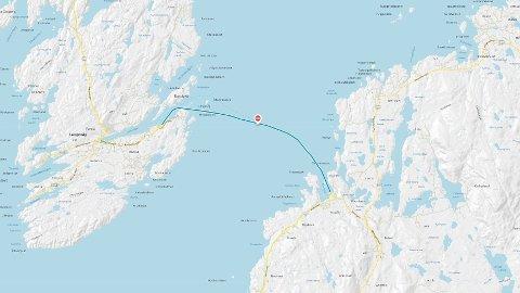 UVÆR: Fergesambandet Langevåg-Buavåg (fylkesvei 451) fra Bømlo til Sveio er innstilt på grunn av uvær.